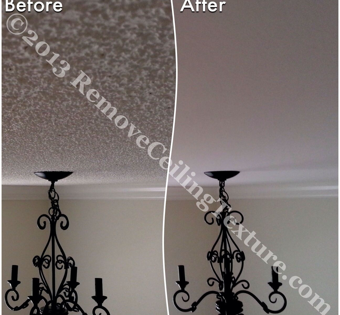 Instead of drywalling over textured ceilings, why not have the ceiling texture removed?