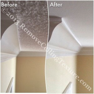 As a bonus, when we make your ceilings smooth, we don't need to tear down any crown moulding.  This saves both time and expense.