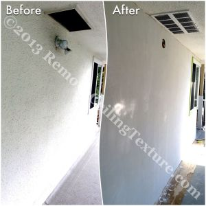 You're not stuck with stucco walls. We can smooth your exterior walls.