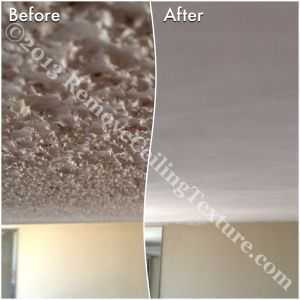 Ceiling texture removal at 1725 Pendrell Street condo in Vancouver