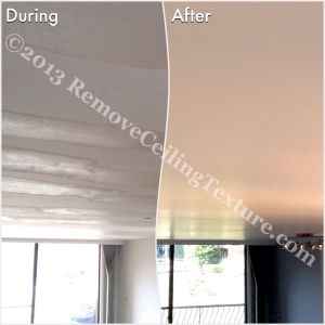 The homeowner was thrilled with the ceilings once RCT was called in to fix the mess from a previous contractor.