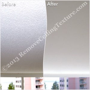 Easy way to increase the value of your home: This West Van condo had ceiling texture removed