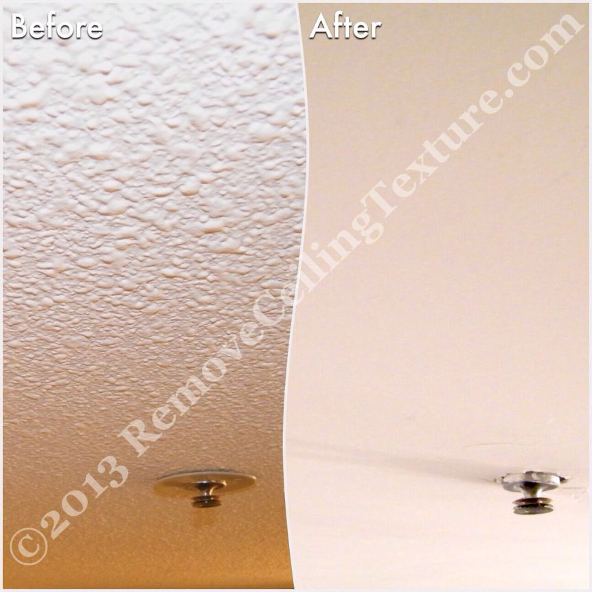 We can work around things like fire sprinklers when removing ceiling texture.