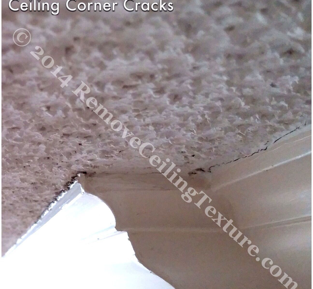 This Vancouver condo had ceiling corner cracks in the texture