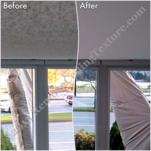 Ceiling Finishes: Smooth Ceilings - Texture removed from concrete ceilings in Vancouver
