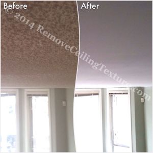 Ceilings transformed from textured to smooth at a condo at 1230 Haro Street in Vancouver