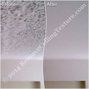 Asbestos in Popcorn Ceilings: This home in North Vancouver had the ceilings smoothed - Bedroom