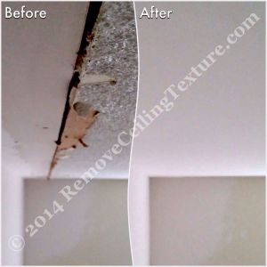 Asbestos in Popcorn Ceilings - Ceiling repair and smooth ceilings in North Vancouver