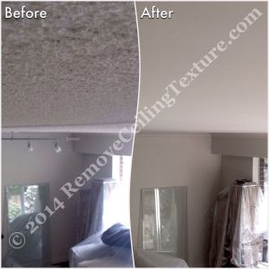 Before and after: Smooth ceilings in West Vancouver - Living Room