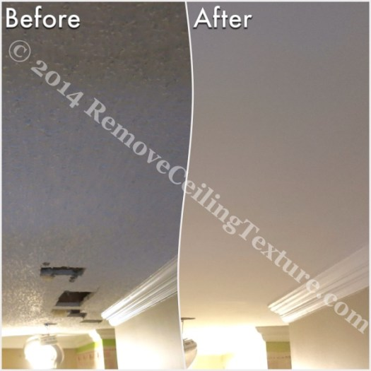 Ceiling Texture Removal at 1st Ave Vancouver - Entrance