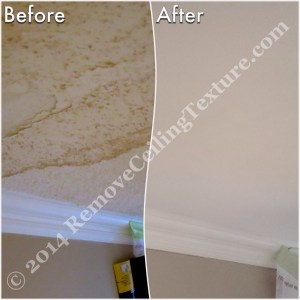 Ceiling Texture Removal at 1st Ave Vancouver - Living Room