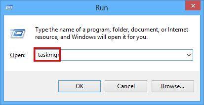 Type taskmgr in run box