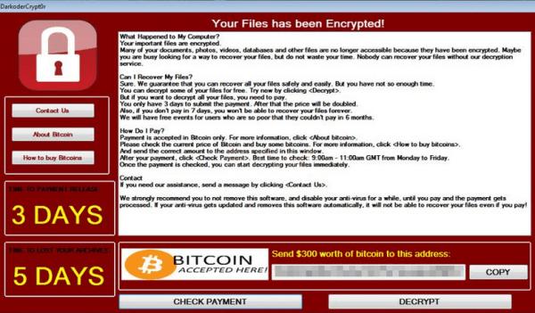 Löschen darkoderCrypt0r ransomware