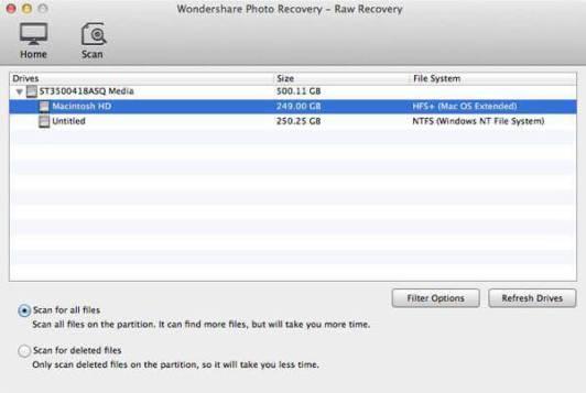 MAC mov recovery