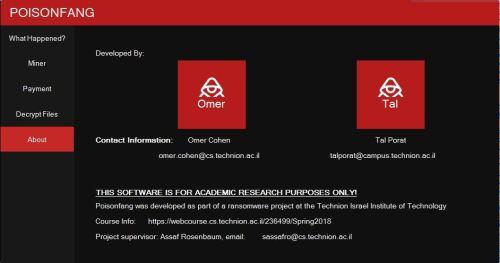 Löschen Sie PoisonFang Ransomware