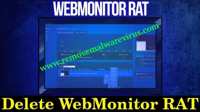 Elimina WebMonitor RAT