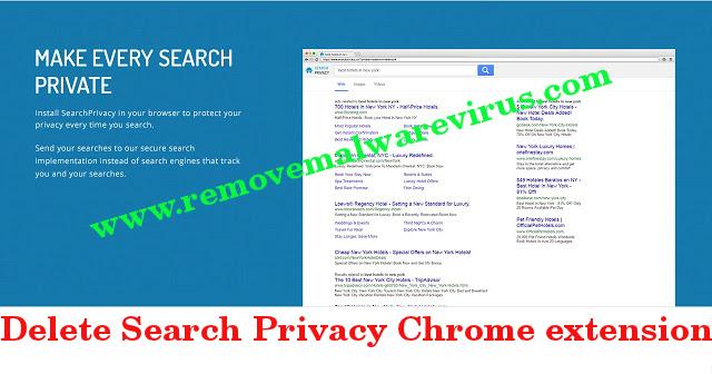 Löschen Sie die Search Privacy Chrome-Erweiterung