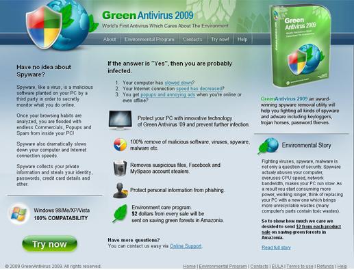 Remove Green Antivirus 2009