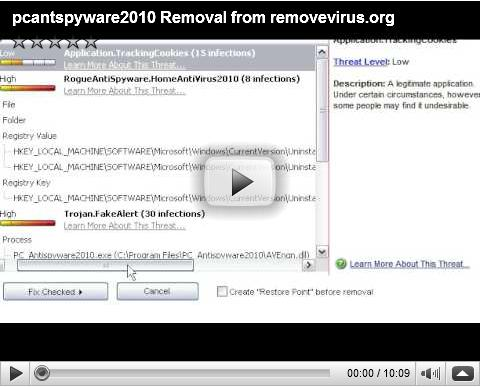 PC AntiSyware 2010 Removal