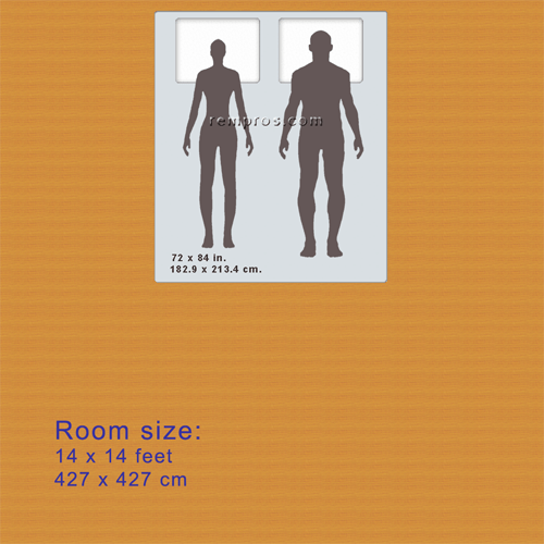 Dimensions Of California King Size Mattress Were Proportionally Resized According To Average Men Heights 5 Feet 10 Inches 1 778 Meter And Women