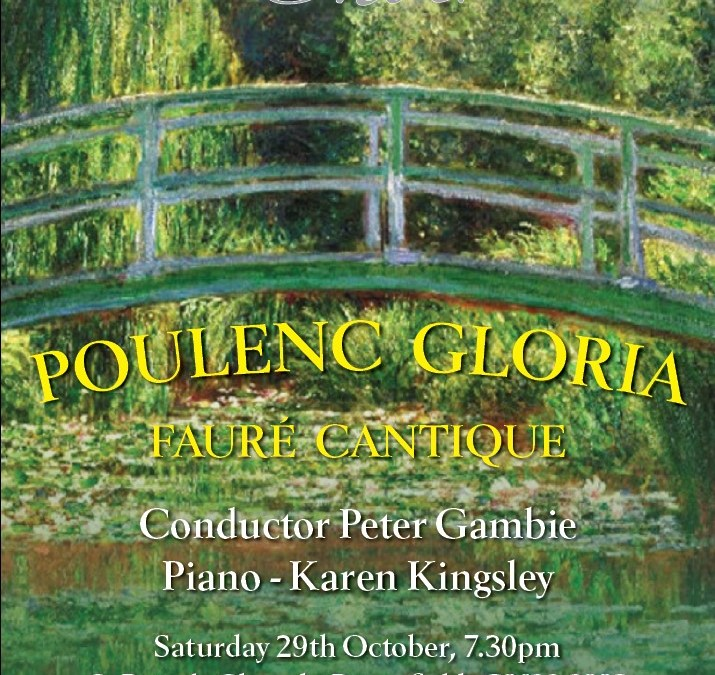 """Preview of """"French Connection: Poulenc's Gloria"""" in Petersfield on 29 October 2016"""