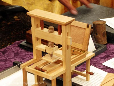 prtinting press replica