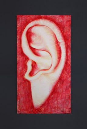 Catherine Parsonage, Untitled (Ear painting), 2018