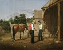 William Sidney Mount. Bargaining for a Horse. 1835.