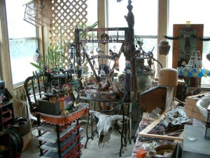 View of the Tobey studio