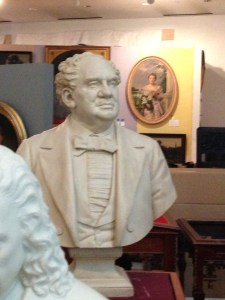 The man himself P.T. Barnum carved by Thomas Ball c1888