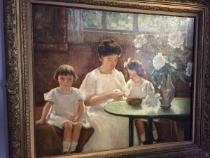 MacRae paints his family