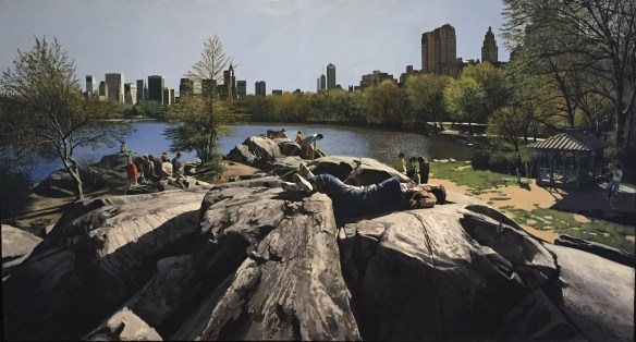 Richard Estes, Sunday Afternoon in the Park, 1989. oil on canvas