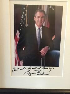 Bush spells it Maury's