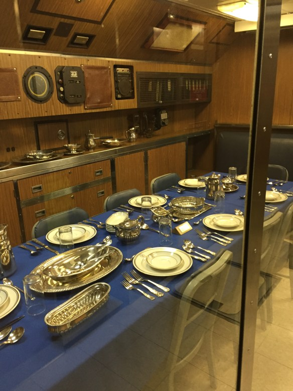 The commodious officer's dining room