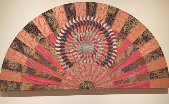 Miriam Schapiro, Blue Burst Fan, 1979, acrylic and collage on canvas