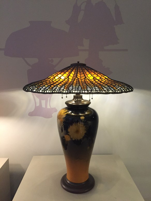 Lotus Pagoda Library Lamp, Tiffany Studios, c1905, Queens Museum of Art