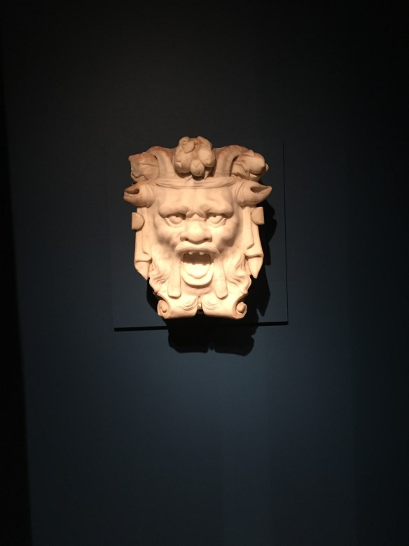 Grotesque Mask, 16th century (?), on view at Yale University Art Gallery