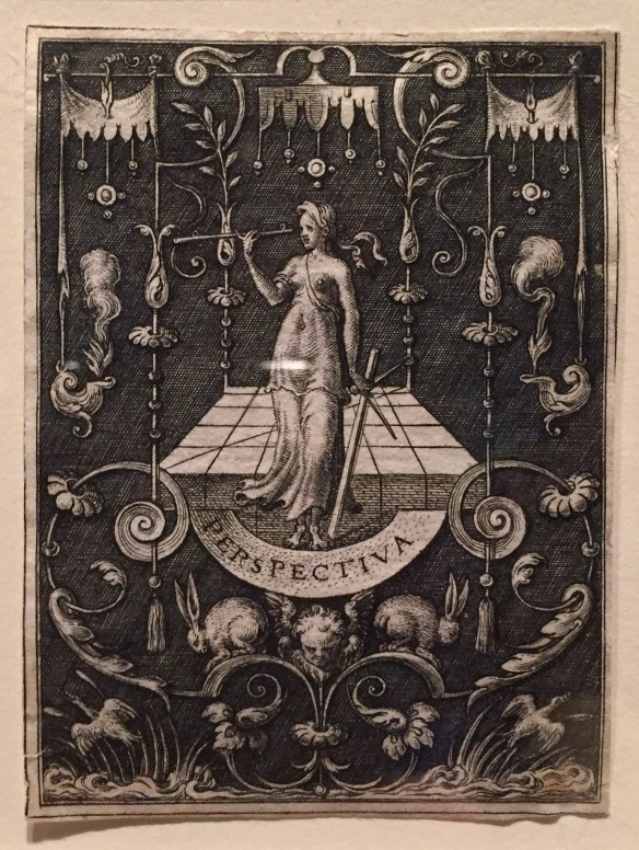 Etienne Delaune, Perspective book plate, 16th century, Yale University Art Gallery