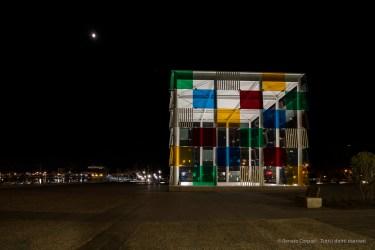 Centre Pompidou Malaga, 28 aprile 2015 - Nikon D810, 14mm (14-24.0mm ƒ/2.8) 3.0sec ƒ/8 ISO 64