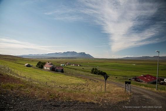 The long road from Akureyri to the Vatnsnes Peninsula. Nikon D810, 24 mm (24-120.0 mm ƒ/4) 1/125 sec ƒ/6.3 ISO 64