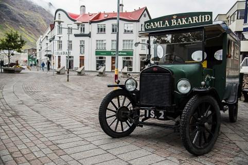 Downtown Isafjörður. Nikon D810, 24 mm (24-120.0 mm ƒ/4) 1/100 sec ƒ/4.5 ISO 800