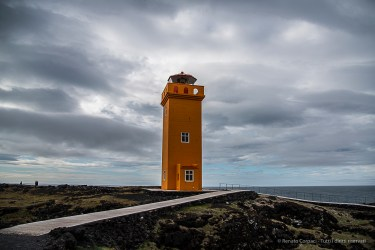 The Skalasnagi Lighthouse. Nikon D810, 24 mm (24-120.0 mm ƒ/4) 1/800 sec ƒ/4 ISO 64