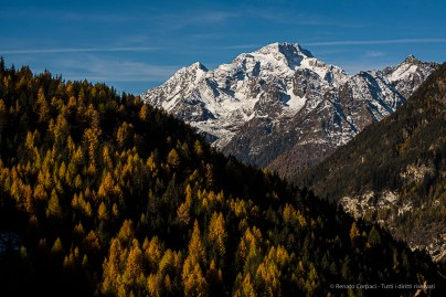View from the forest from thr road to Campo Moro. Nikon D810, 70mm (70-300 ƒ/4.5-5.6) 1/100 sec ƒ/16 ISO 64