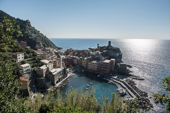 "Vernazza's name is derived from the Latin adjective verna meaning ""native"" and the aptly named indigenous wine, vernaccia (""local"" or ""ours""), helped give birth to the village's moniker. Nikon D810, 24mm (24 mm ƒ/1.4) 1/500 sec ƒ/5.6 ISO 64"