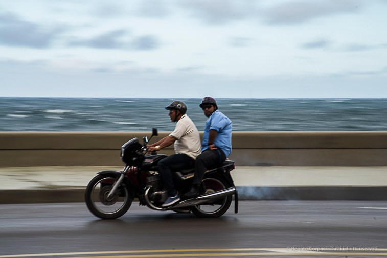 "Motorcycle on the Malecón. Nikon D810, 120 mm (24-120.0 ƒ/4) 1/50"" ƒ/11 ISO 64."