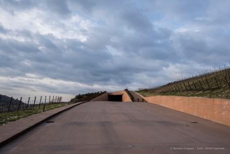 "The ramp taking to the underground garage. Nikon D810, 24 mm (24.0 mm ƒ/1.4) 1/400"" ƒ/8 ISO 200"