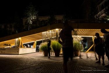 """Bergamo Alta, Piazza Vecchia. Annual Kermesse «I Maestri Del Paesaggio» 2016. Nikon D810, 20 mm (20 mm ƒ/1.8) 0,6"""" ƒ/1.8 ISO 12800"""