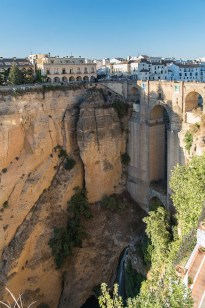 "Ronda, Tajo Gorge with its famous bridge, the Puente Nuevo. Nikon D810, 24 mm (24-120.0 mm ƒ/4) 1/125"" ƒ/4 ISO 64"