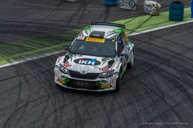 "Kalle Rovanperä, age 16, with Risto Pietiläinen (navigator) on Sloda Fabia WRC 1.6 at the Monster Energy Monza Rally Show 2016. Nikon D810, 120 mm (24-120.0 mm ƒ/4) 1/250"" ƒ/8 ISO 800"
