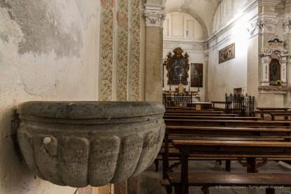 """Somasassa, Valtellina, church of San Gottardo, XVIII Century. Nikon D810, 20 mm (20 mm ƒ/1.8) 2.5"""" ƒ/14 ISO 64 ISO 64"""